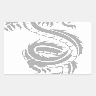 Beautiful dragon designs rectangle sticker