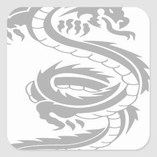 Beautiful dragon designs square sticker