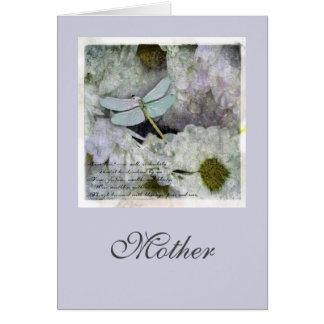 Beautiful  Dragonfly Art  Mother's Day Card