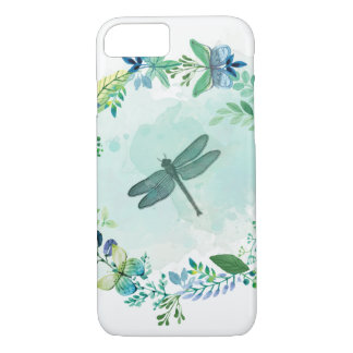 Beautiful Dragonfly Butterfly And Flowers iPhone 8/7 Case