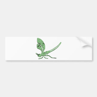 Beautiful Dragonfly with Jade-like Texture Bumper Sticker