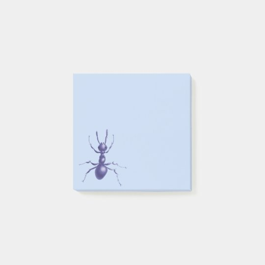Beautiful Drawn Purple Ant Post-it Notes