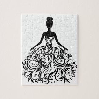 Beautiful Dress Girl Wedding Party Long Jigsaw Puzzles