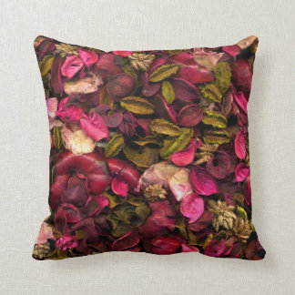 Beautiful dried flower petals pillow cushion