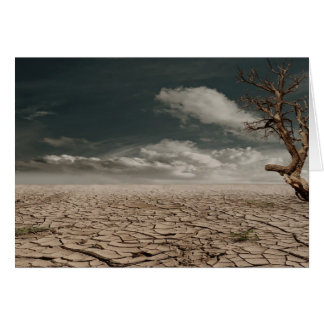 Beautiful drought desert scenery greeting cards