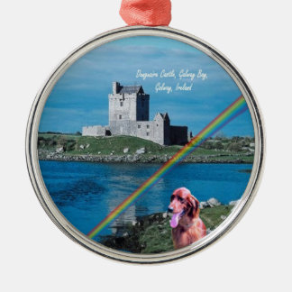 Beautiful Dunguaire Castle View Galway Bay Ireland Christmas Ornament