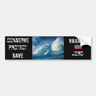Beautiful Earth Car Bumper Sticker