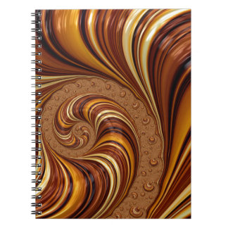 Beautiful Earth Tone Fractal Art Decor Spiral Notebooks