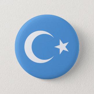 Beautiful East Turkestan Xinjiang Flag 6 Cm Round Badge