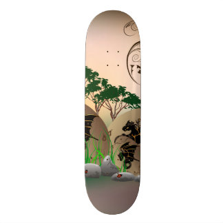 Beautiful easter eggs with dragons and damask custom skate board