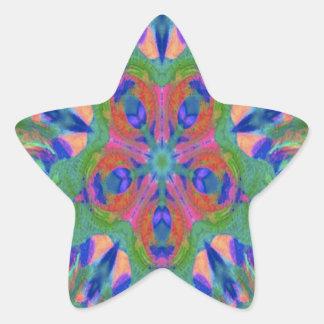 Beautiful Easter kaleidoscope design image Star Sticker
