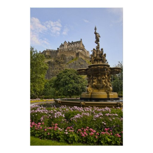 Beautiful Edinburgh Castle Poster