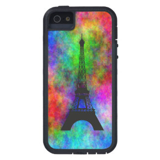 Beautiful Eiffel tower colorful cloth back effects iPhone 5 Case