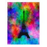 Beautiful Eiffel tower Paris colourful cloth