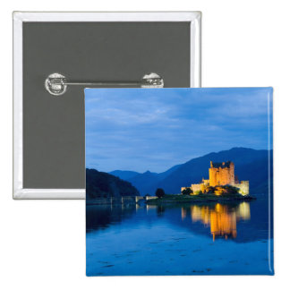 Beautiful Eileen Donan Castle in Western Dornie 15 Cm Square Badge