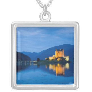 Beautiful Eileen Donan Castle in Western Dornie Silver Plated Necklace