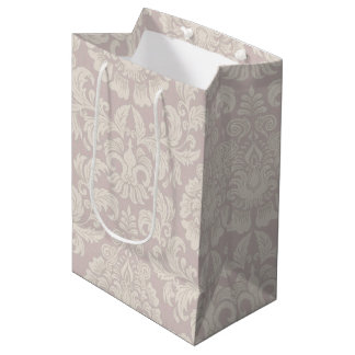 Beautiful Elegant Damask Pattern Medium Gift Bag