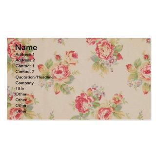 Beautiful elegant girly vintage floral pattern business card