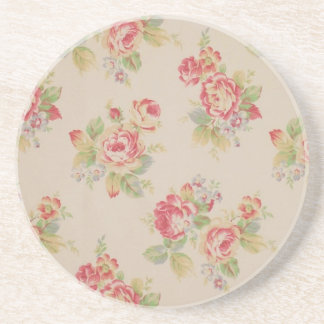 Beautiful elegant girly vintage floral pattern coaster