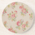 Beautiful elegant girly vintage floral pattern drink coasters