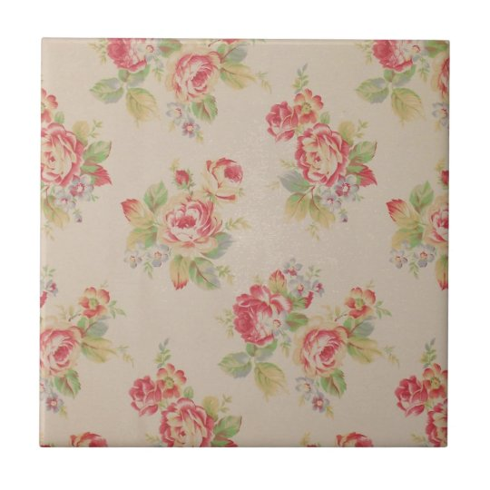 Beautiful elegant girly vintage floral pattern small square