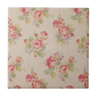 Beautiful elegant girly vintage floral pattern tile