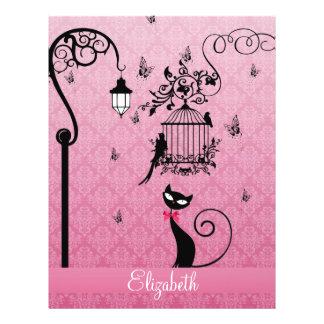 Beautiful elegant girly vintage love birds cage 21.5 cm x 28 cm flyer
