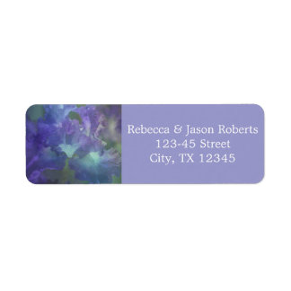Beautiful elegant soft purple and blue iris return address label