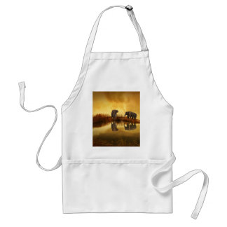 beautiful elephant Thailand sunset Standard Apron