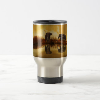 beautiful elephant Thailand sunset Travel Mug