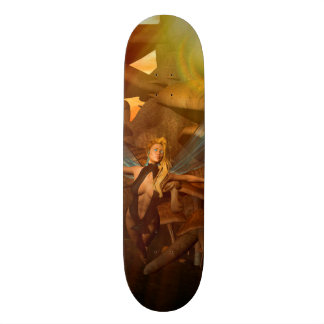 Beautiful elf flying in the sunset skate deck