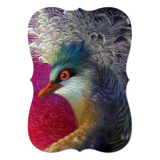 Beautiful Embroidery Phoenix 5x7 Paper Invitation Card