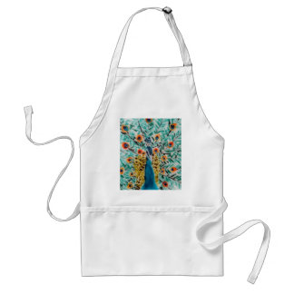 Beautiful Emerald Green and Turquoise Peacock Standard Apron