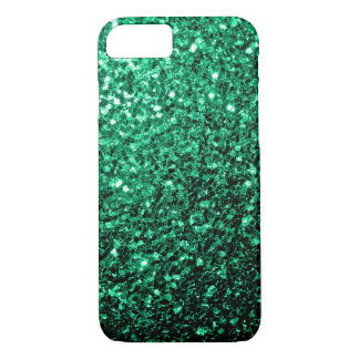 Beautiful Emerald Green glitter sparkles iPhone 7 Case