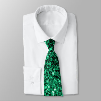Beautiful Emerald Green glitter sparkles Tie