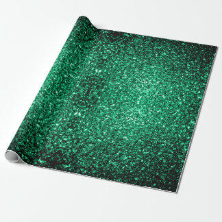 Beautiful Emerald Green sparkles v2 Wrapping Paper