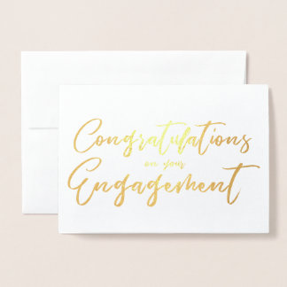 Beautiful Engagement Congratulation Foil Card
