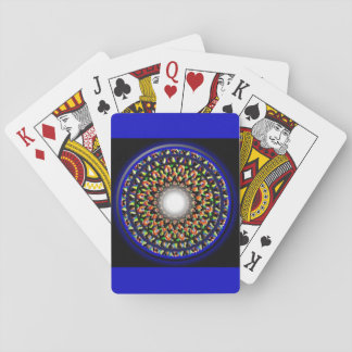 Beautiful Ethnic Mandala Designer, Blue Multicolor Poker Deck