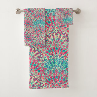 Beautiful Ethnic Pattern Bath Towel Set
