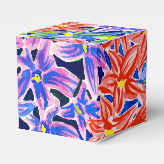 Beautiful Exotic Floral Watercolor Favor Box