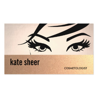 Beautiful Eyelashes and Brows Cosmetologist Pack Of Standard Business Cards
