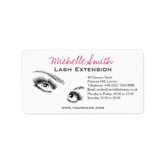 Beautiful eyes Long lashes Lash Extension Address Label