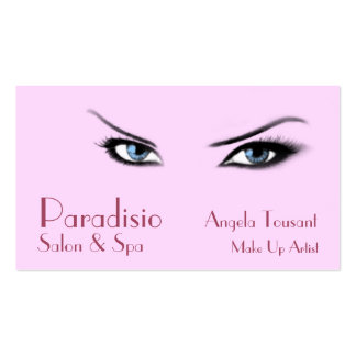 Beautiful Eyes Salon and Spa Business Card Template