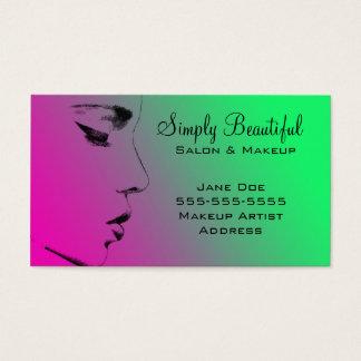 beautiful face business card