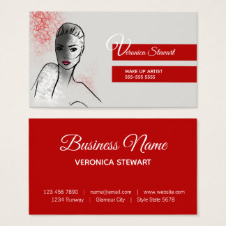 Beautiful Face Illustration Business Business Card