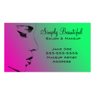 beautiful face pack of standard business cards