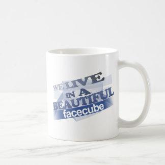 Beautiful Facecube Basic White Mug