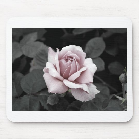 Beautiful faded pink rose print mouse mat