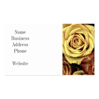 Beautiful Faded Roses Vintage Floral Bouquet Business Card