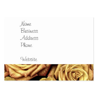 Beautiful Faded Roses Vintage Floral Bouquet Business Card Template